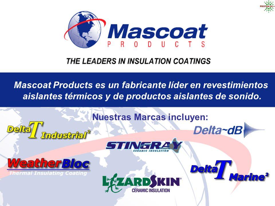 Mascoat Products es un fabricante líder en revestimientos aislantes térmicos y de productos aislantes de sonido. Nuestras Marcas incluyen: