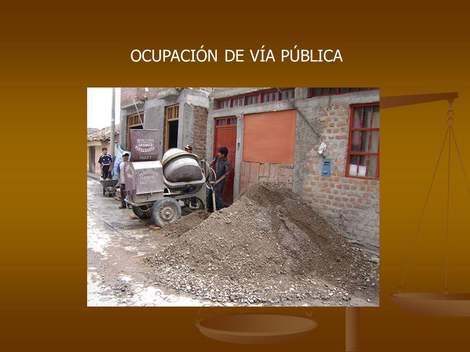OCUPACIÓN DE VÍA PÚBLICA