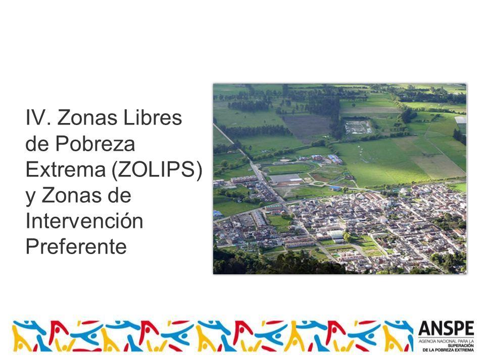 IV. Zonas Libres de Pobreza Extrema (ZOLIPS) y Zonas de Intervención Preferente