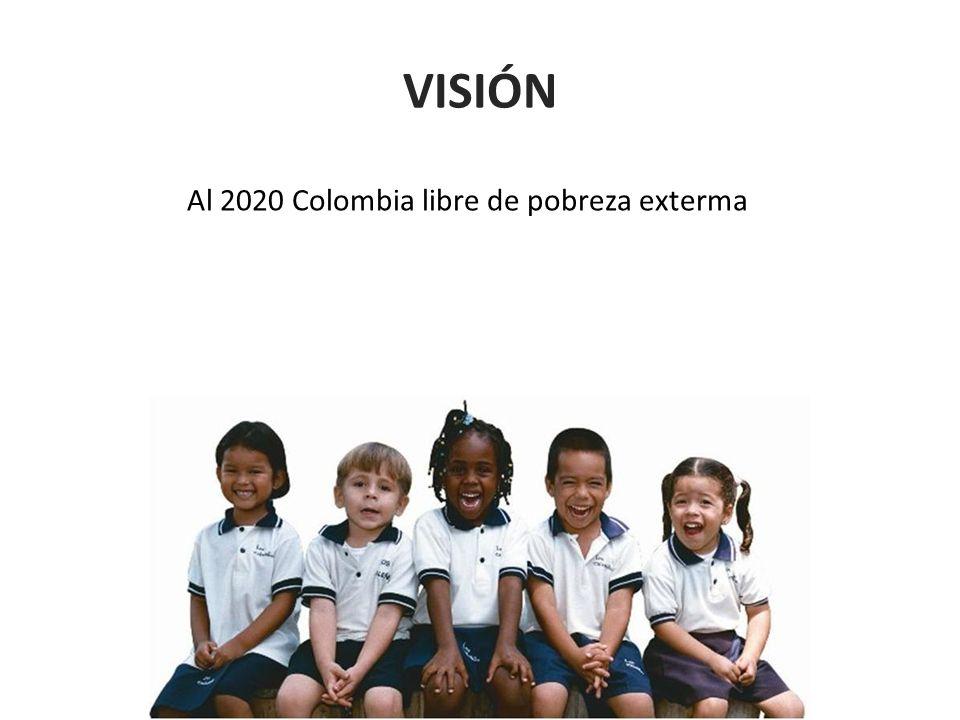 VISIÓN Al 2020 Colombia libre de pobreza exterma
