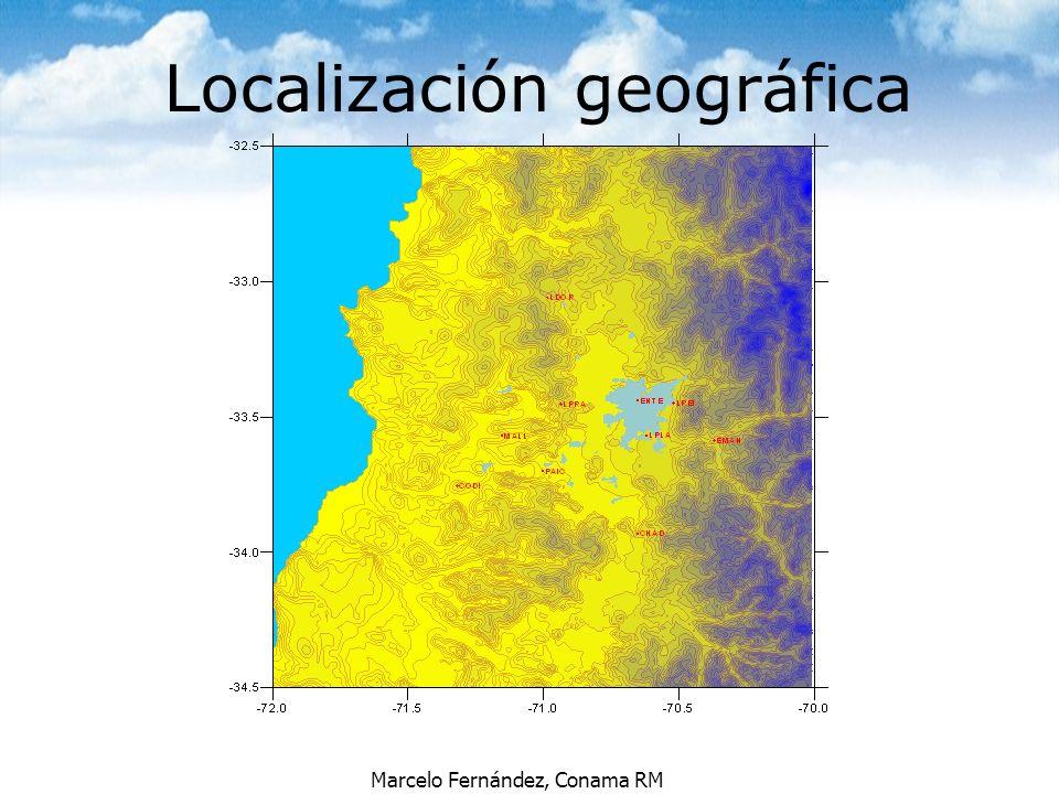 Marcelo Fernández, Conama RM Localización geográfica