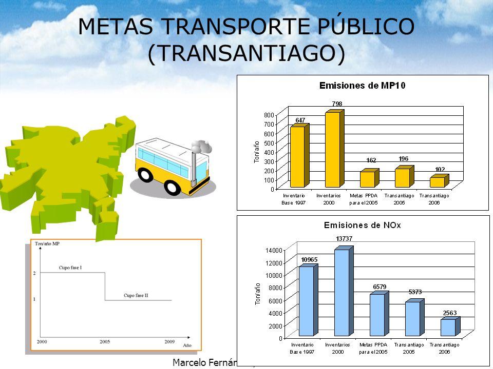 Marcelo Fernández, Conama RM METAS TRANSPORTE PÚBLICO (TRANSANTIAGO)