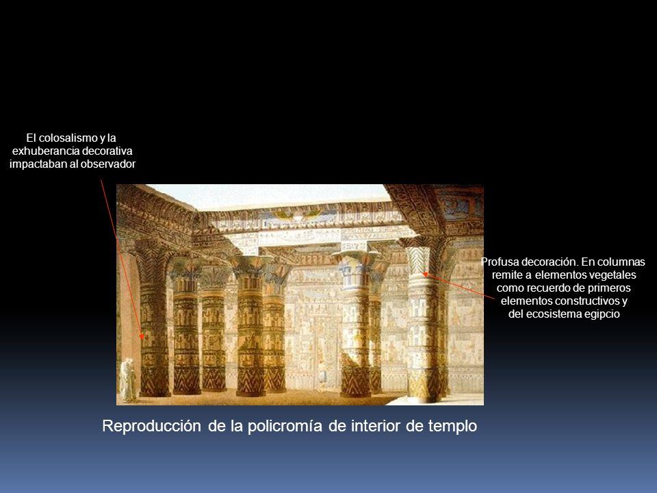 Reproducción de la policromía de interior de templo Profusa decoración.