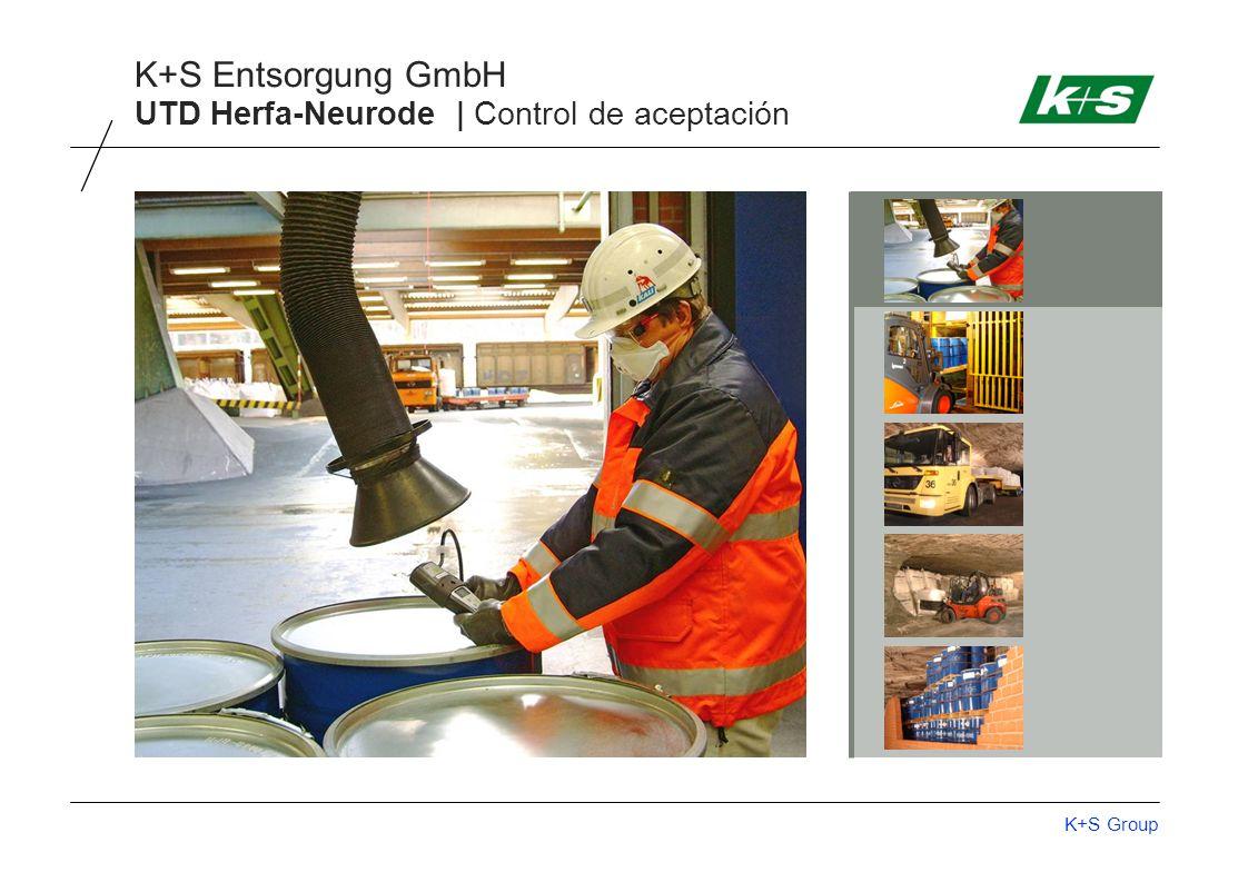 K+S Group K+S Entsorgung GmbH UTD Herfa-Neurode | Control de aceptación
