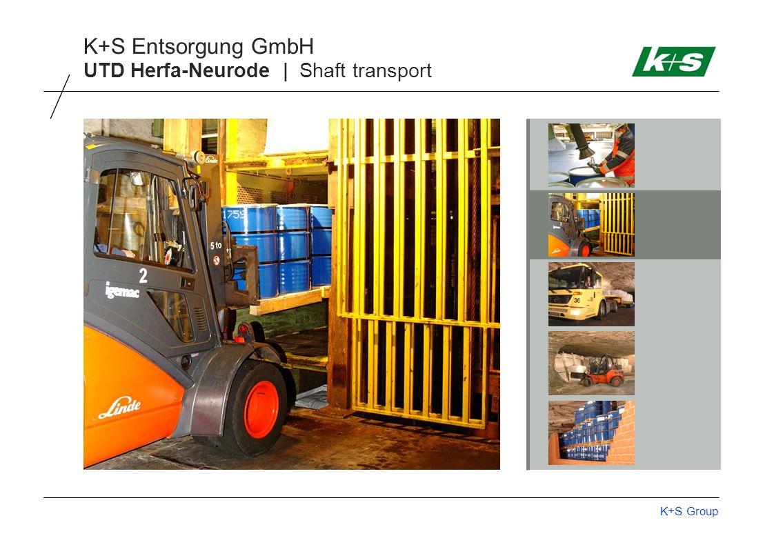 K+S Group K+S Entsorgung GmbH UTD Herfa-Neurode | Shaft transport