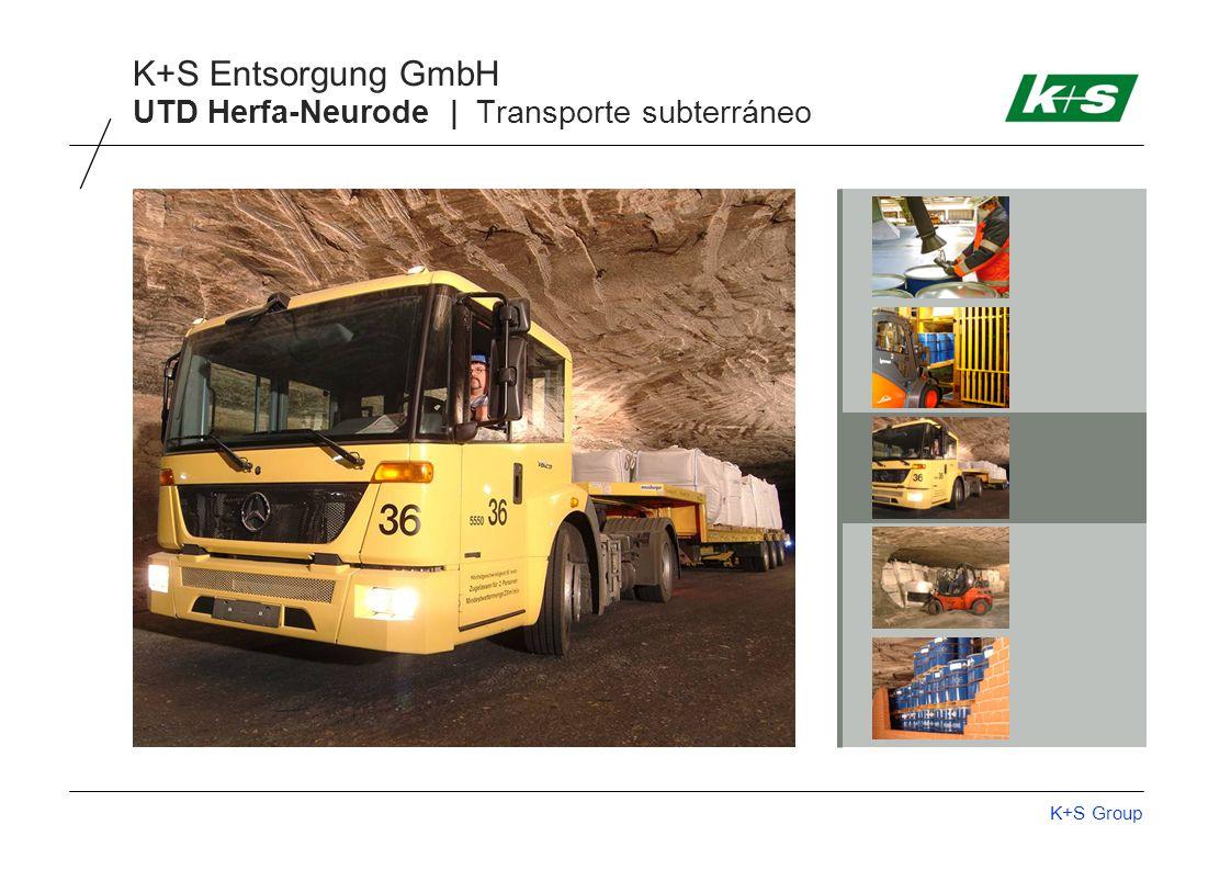 K+S Group K+S Entsorgung GmbH UTD Herfa-Neurode | Transporte subterráneo