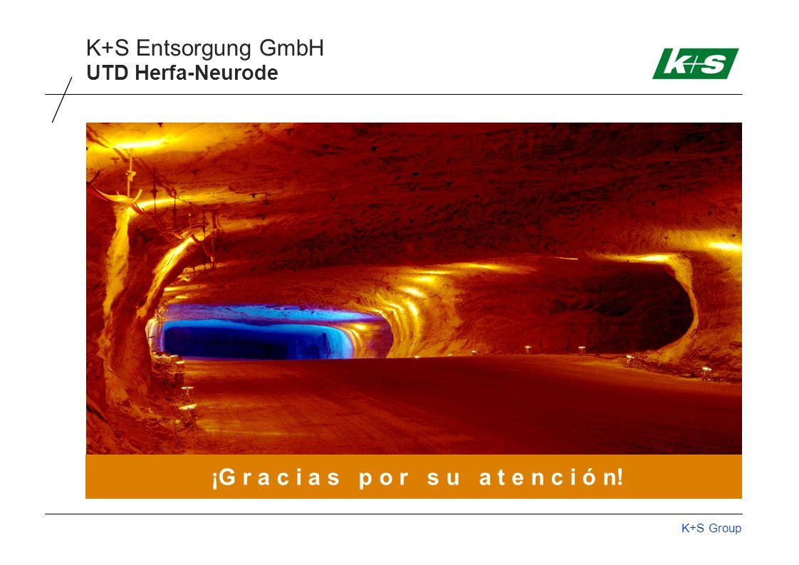 K+S Group K+S Entsorgung GmbH ¡G r a c i a s p o r s u a t e n c i ó n! UTD Herfa-Neurode