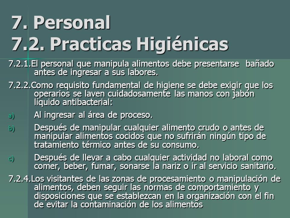 7.Personal 7.2.