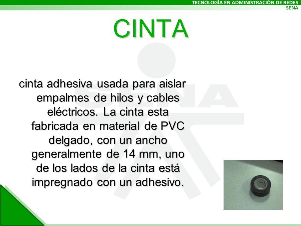 CINTA cinta adhesiva usada para aislar empalmes de hilos y cables eléctricos.