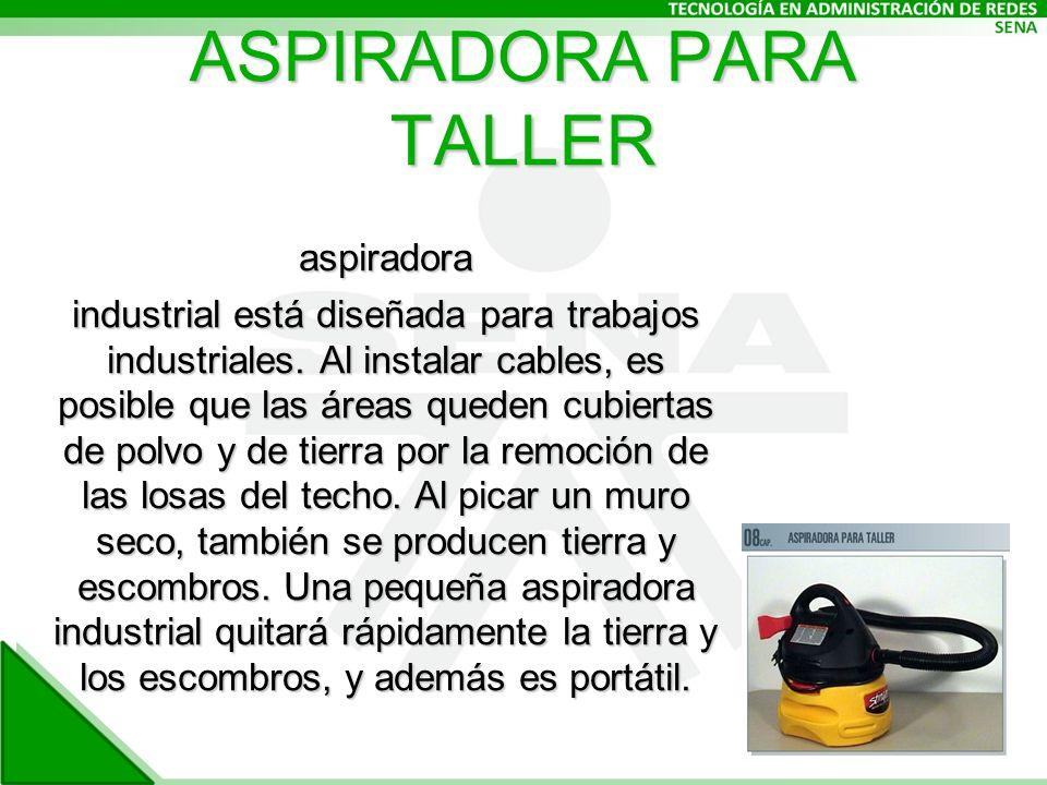 ASPIRADORA PARA TALLER aspiradora industrial está diseñada para trabajos industriales.