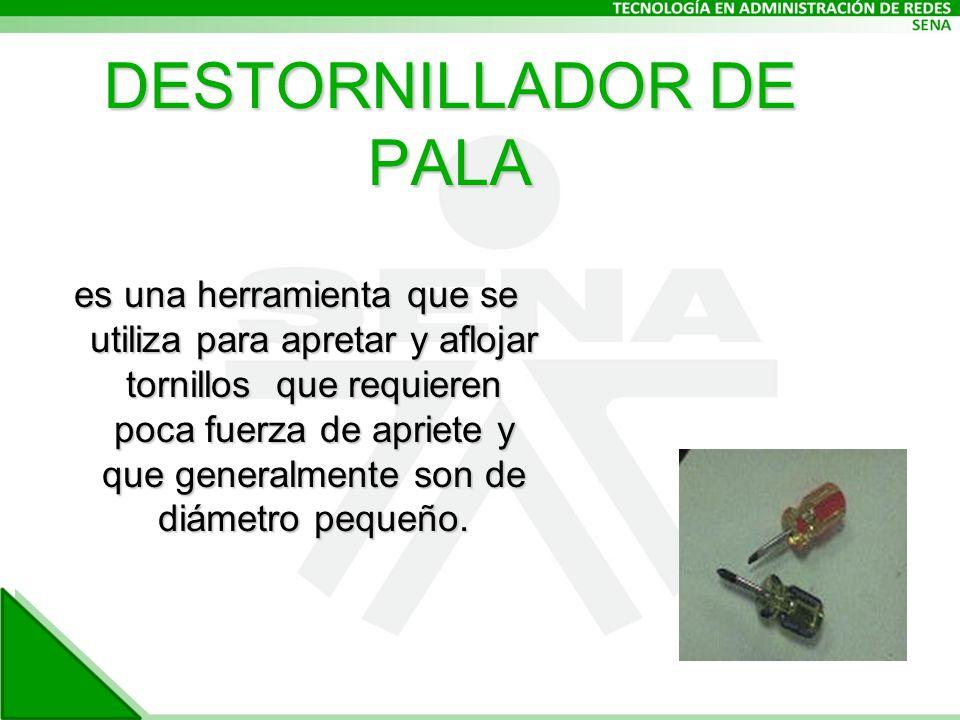 es una herramienta que se utiliza para apretar y aflojar tornillos que requieren poca fuerza de apriete y que generalmente son de diámetro pequeño.