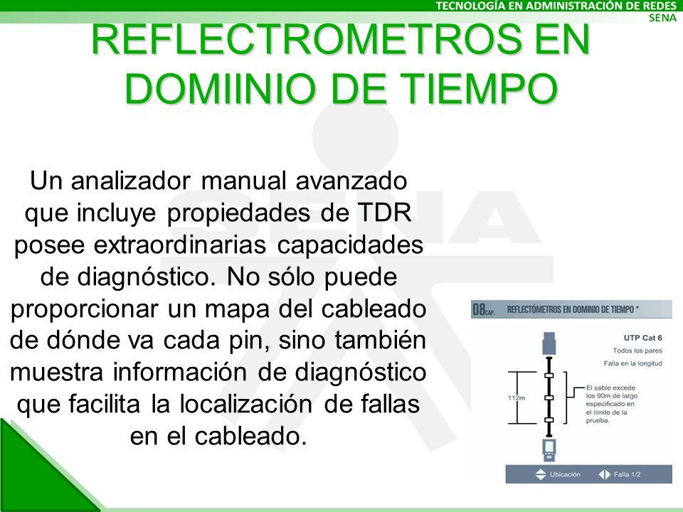 REFLECTROMETROS EN DOMIINIO DE TIEMPO Un analizador manual avanzado que incluye propiedades de TDR posee extraordinarias capacidades de diagnóstico.