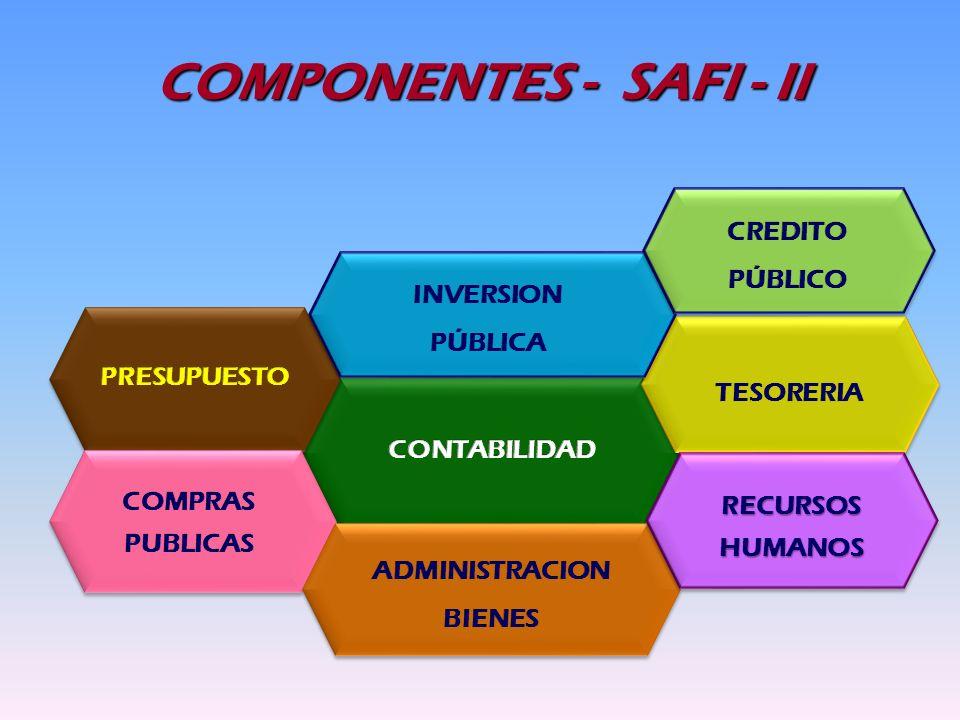 COMPONENTES - SAFI - II RECURSOS HUMANOS