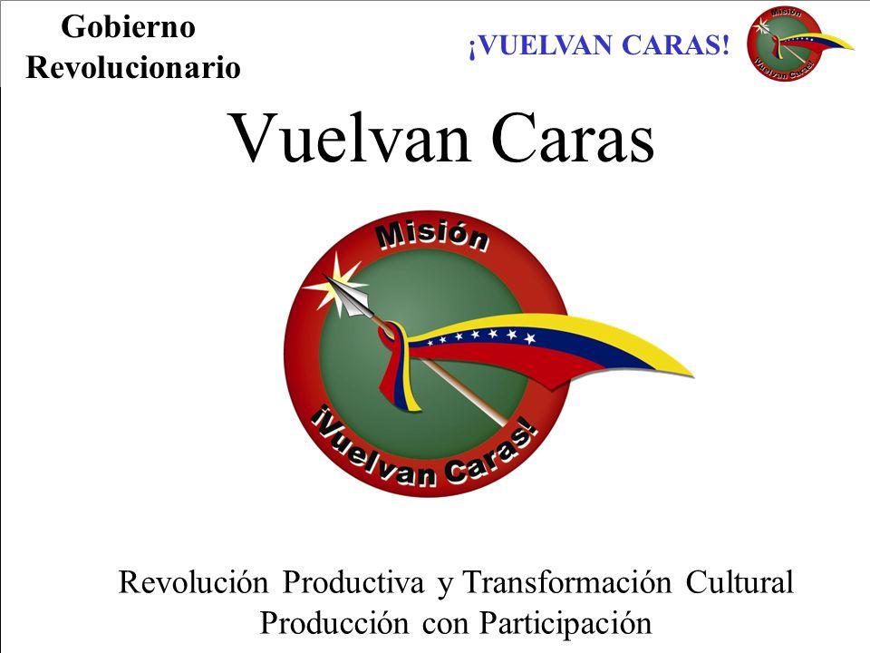 ¡VUELVAN CARAS! Vuelvan Caras Revolución Productiva y Transformación Cultural Producción con Participación Gobierno Revolucionario