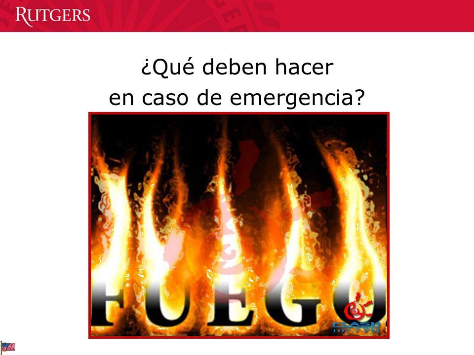 ¿Qué deben hacer en caso de emergencia?