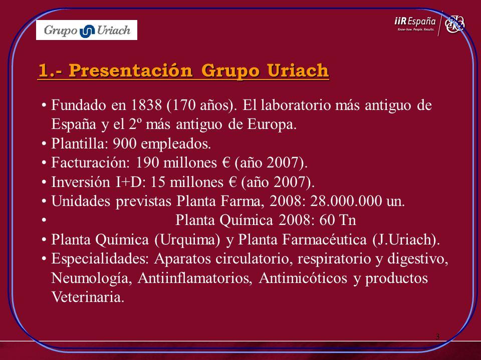 3 Fundado en 1838 (170 años). El laboratorio más antiguo de España y el 2º más antiguo de Europa. Plantilla: 900 empleados. Facturación: 190 millones