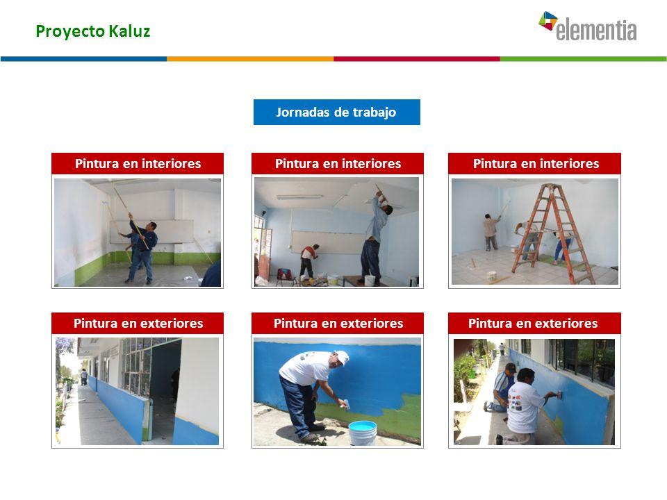 Proyecto Kaluz Pintura en exteriores Jornadas de trabajo Pintura en interiores Pintura en exteriores