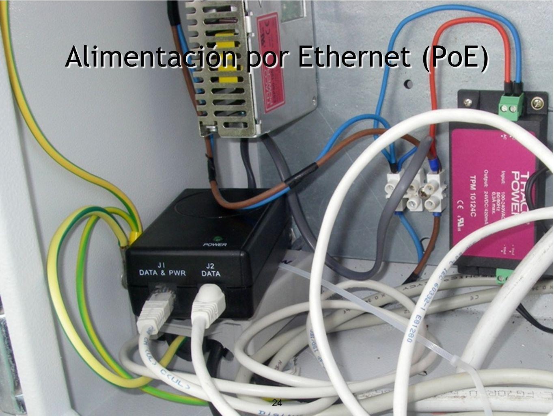 Alimentación por Ethernet (PoE) 24