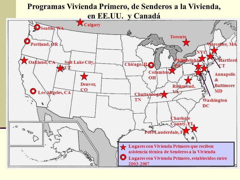 16 Annapolis & Baltimore MD Hartford CT Programas Vivienda Primero, de Senderos a la Vivienda, en EE.UU.