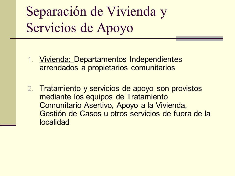 21 Separación de Vivienda y Servicios de Apoyo 1.