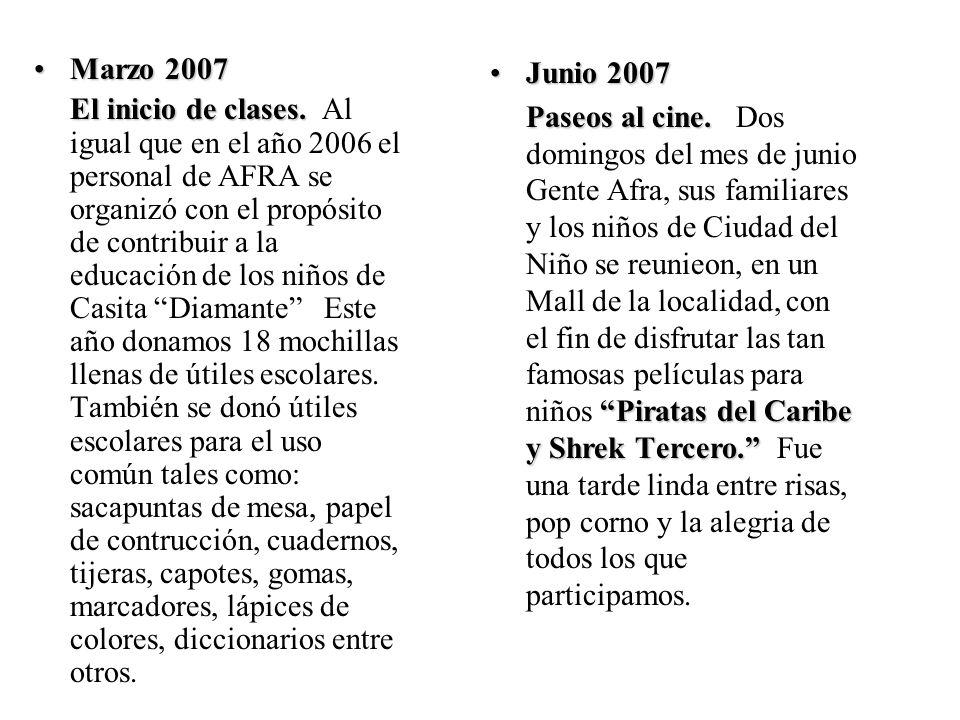 Actividades Año 2007