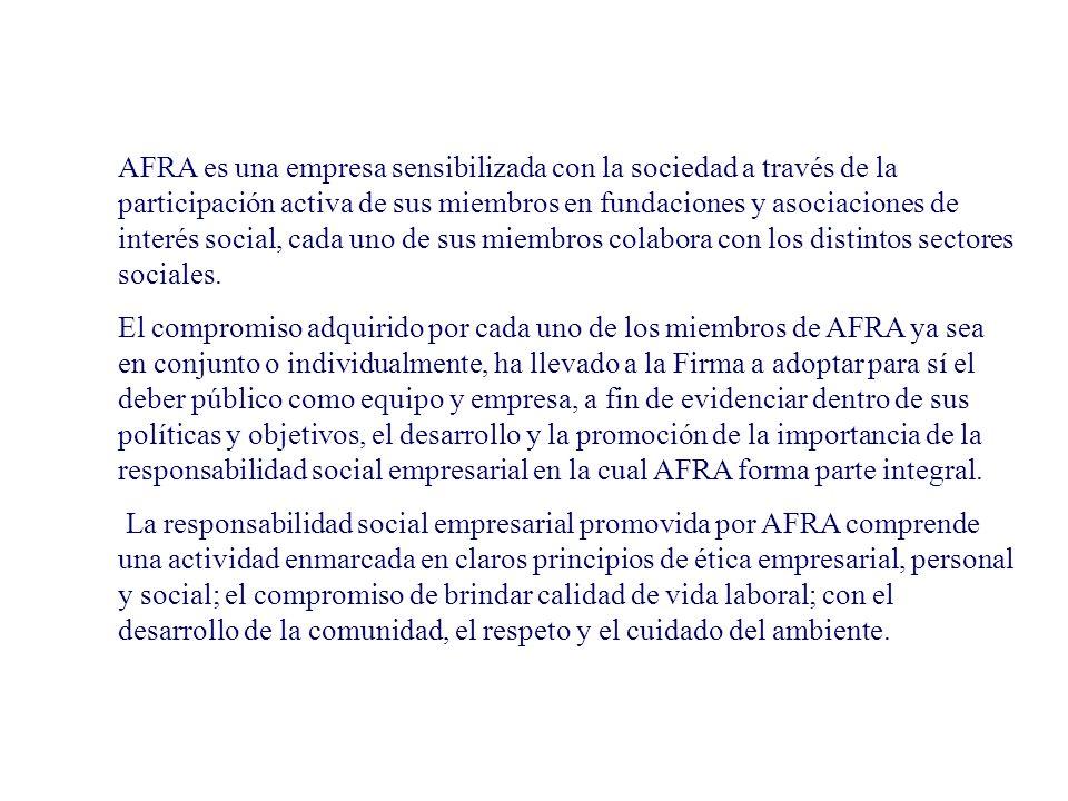 ALFARO, FERRER & RAMIREZ es una Firma comprometida con sus clientes, proveedores, colaboradores, la comunidad y el medio ambiente en general. La forma