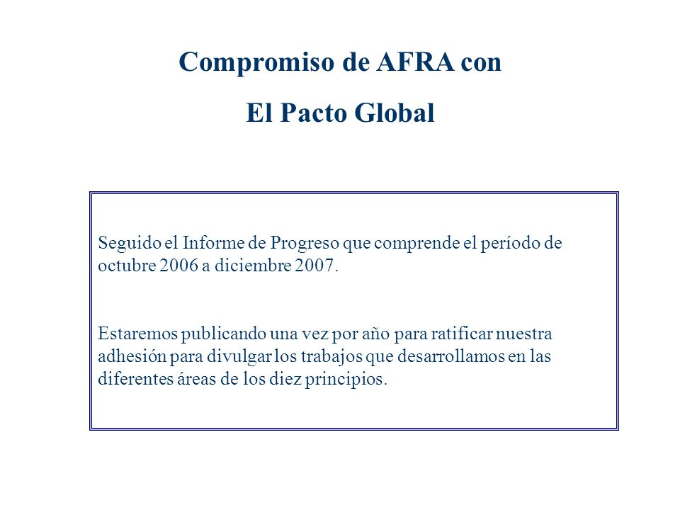 AFRA es una empresa sensibilizada con la sociedad a través de la participación activa de sus miembros en fundaciones y asociaciones de interés social,