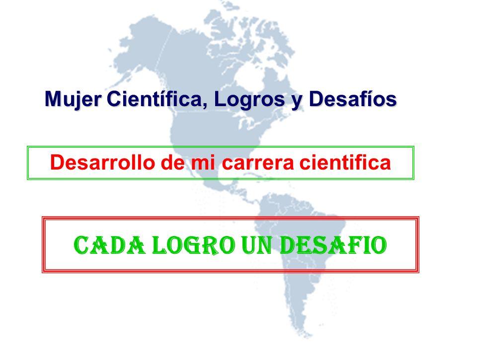 Desarrollo de mi carrera cientifica Mujer Científica, Logros y Desafíos CADA LOGRO UN DESAFIO