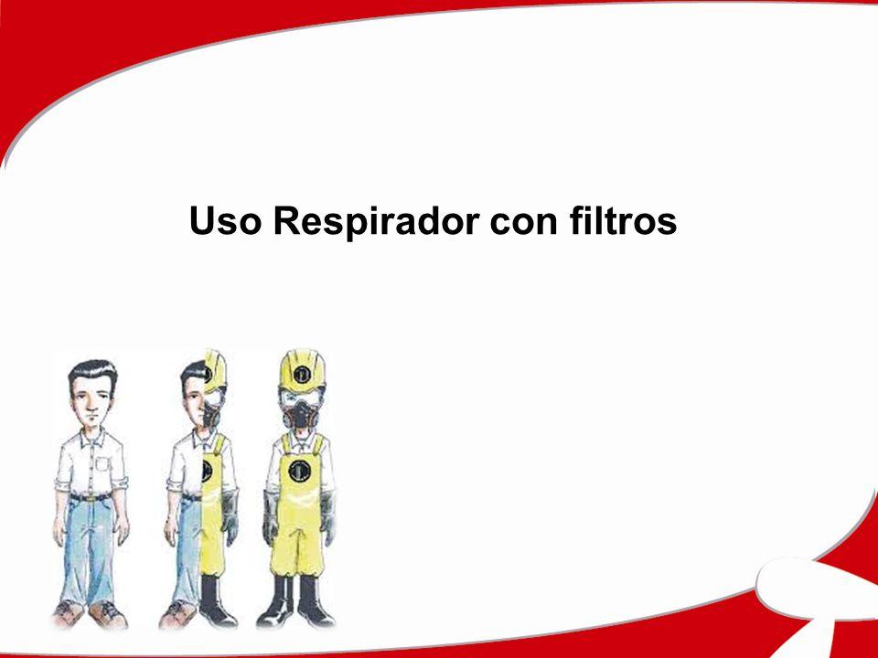 Uso Respirador con filtros