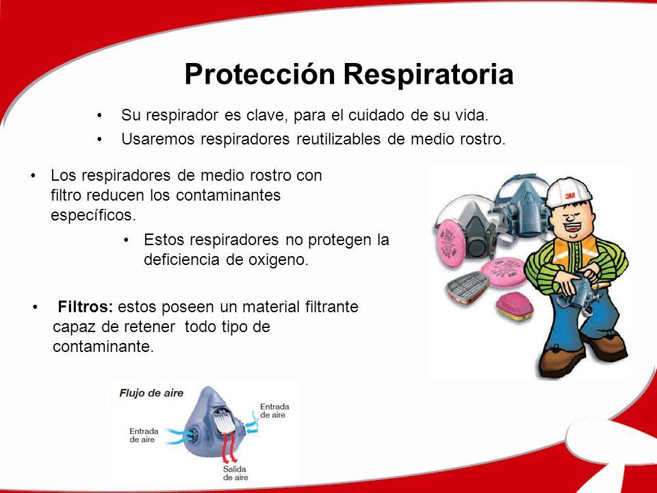 Protección Respiratoria Su respirador es clave, para el cuidado de su vida. Usaremos respiradores reutilizables de medio rostro. Los respiradores de m