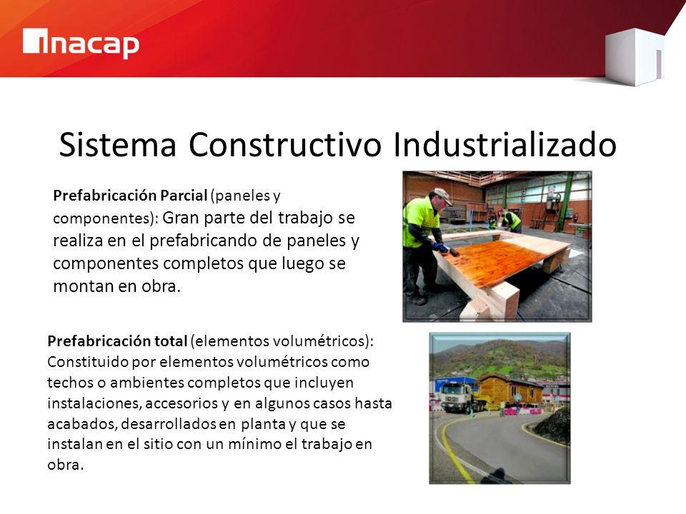 Sistema Constructivo Industrializado Prefabricación Parcial (paneles y componentes): Gran parte del trabajo se realiza en el prefabricando de paneles