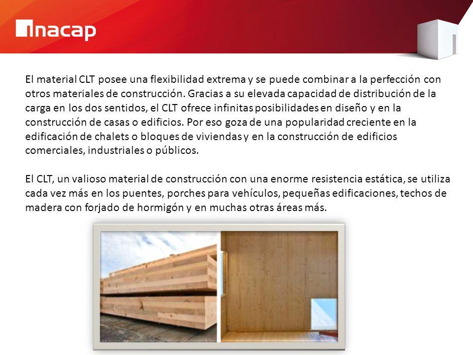 El material CLT posee una flexibilidad extrema y se puede combinar a la perfección con otros materiales de construcción. Gracias a su elevada capacida