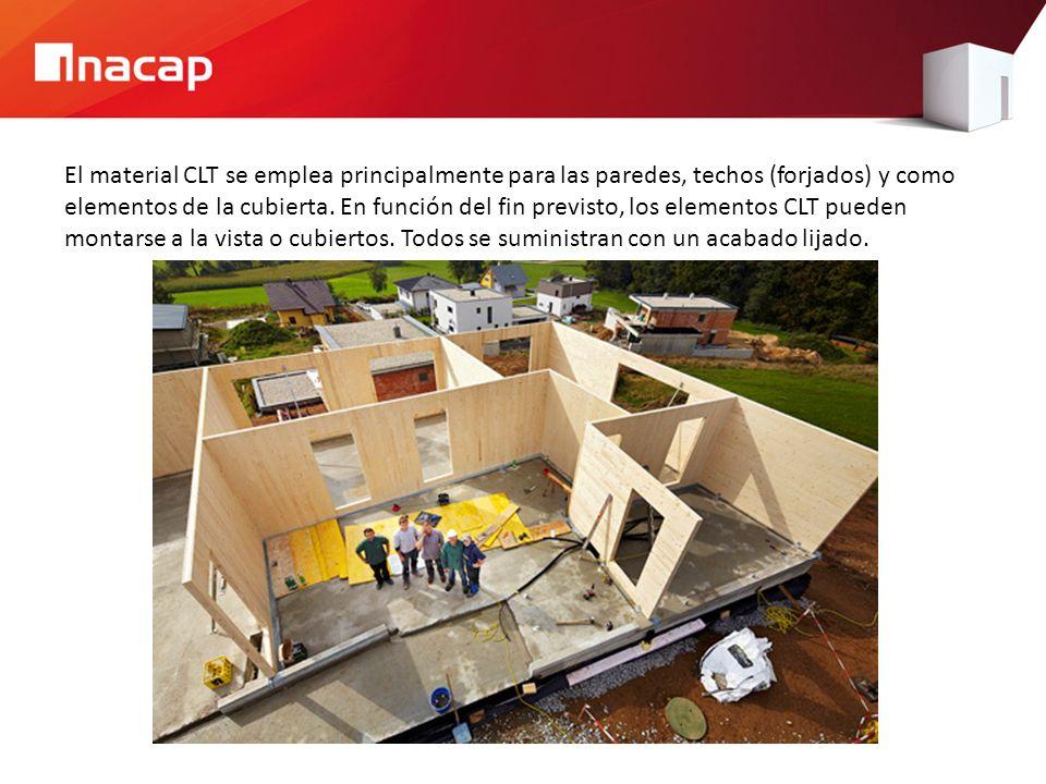 El material CLT se emplea principalmente para las paredes, techos (forjados) y como elementos de la cubierta. En función del fin previsto, los element