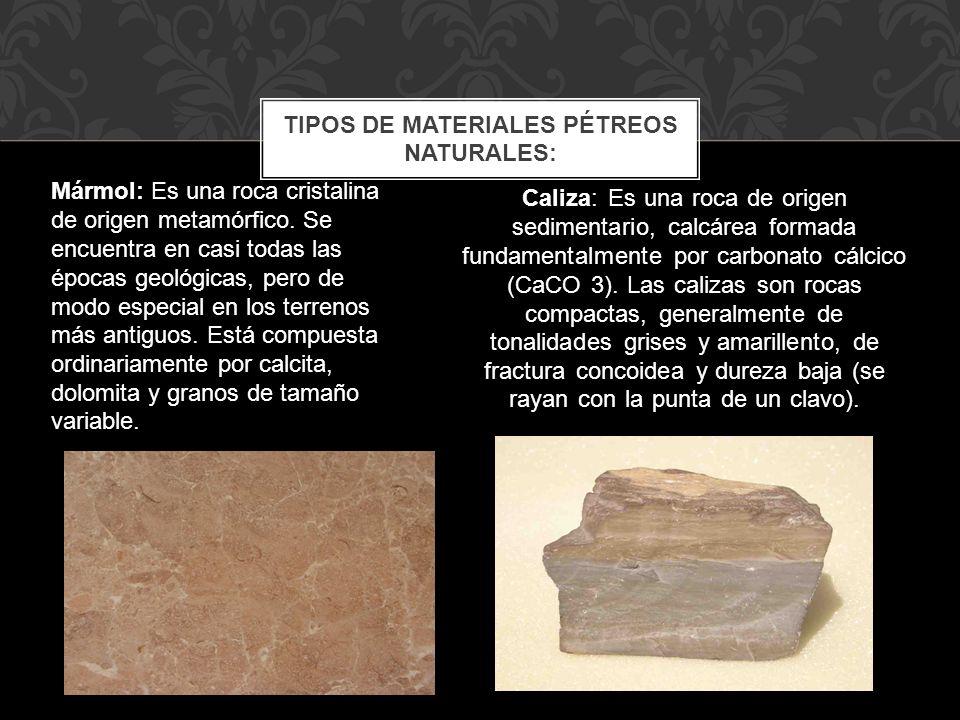 Caliza: Es una roca de origen sedimentario, calcárea formada fundamentalmente por carbonato cálcico (CaCO 3). Las calizas son rocas compactas, general