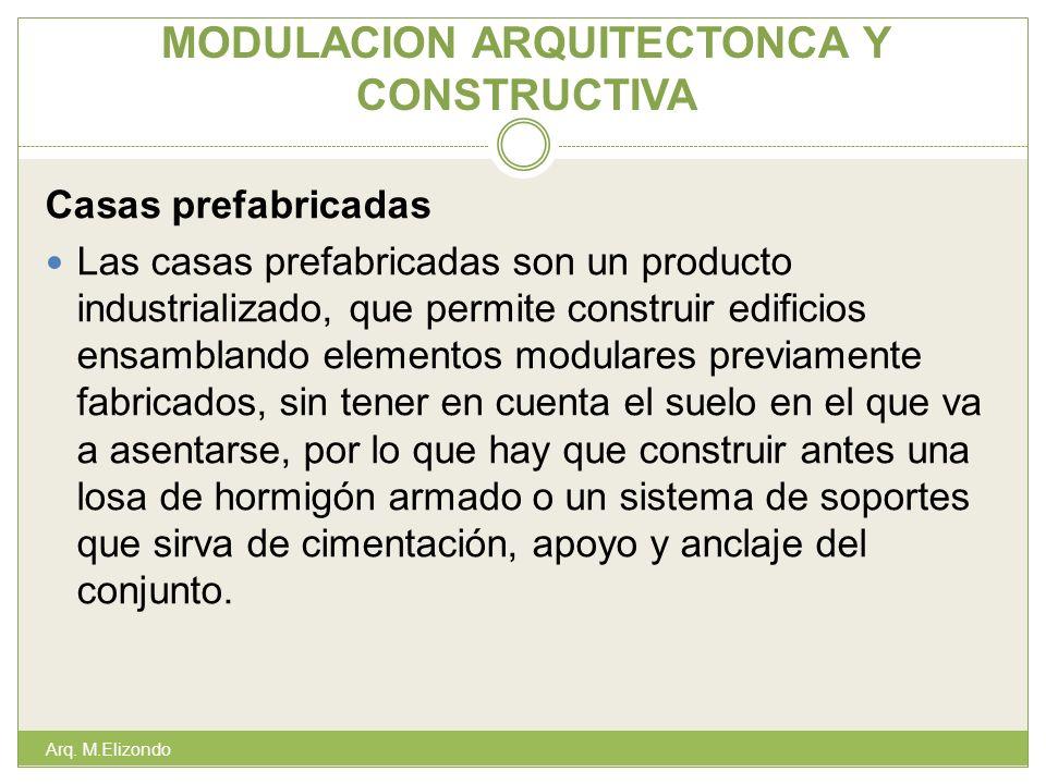 MODULACION ARQUITECTONCA Y CONSTRUCTIVA Casas prefabricadas Las casas prefabricadas son un producto industrializado, que permite construir edificios e