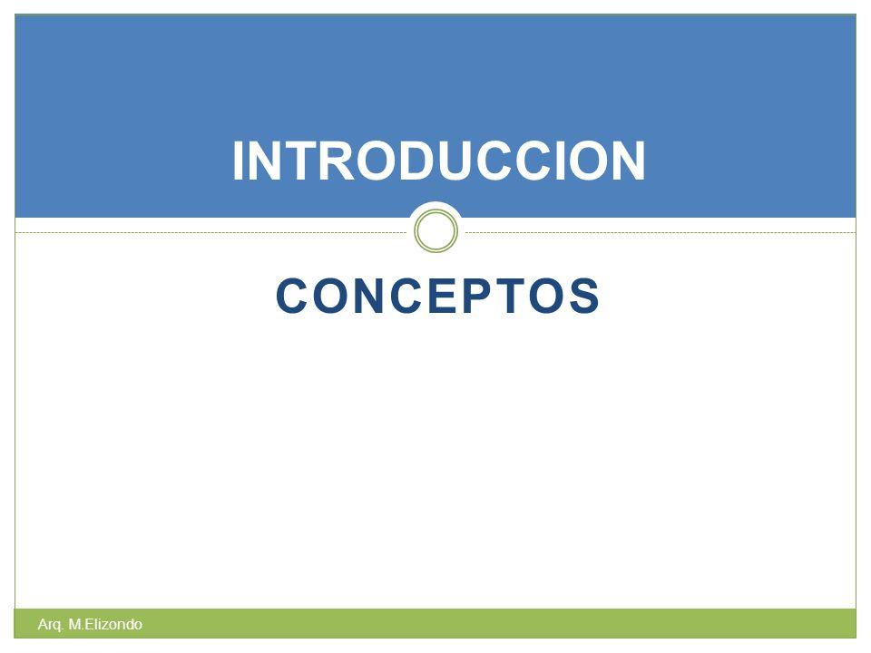 CONCEPTOS INTRODUCCION Arq. M.Elizondo
