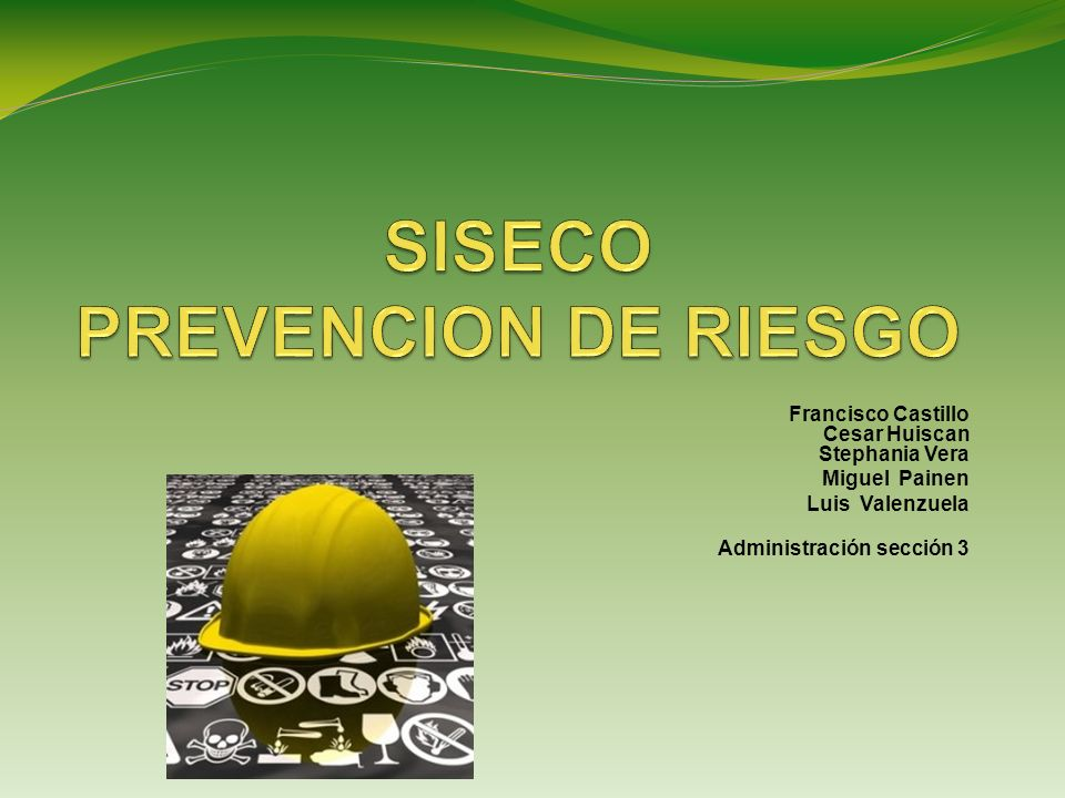Francisco Castillo Cesar Huiscan Stephania Vera Miguel Painen Luis Valenzuela Administración sección 3