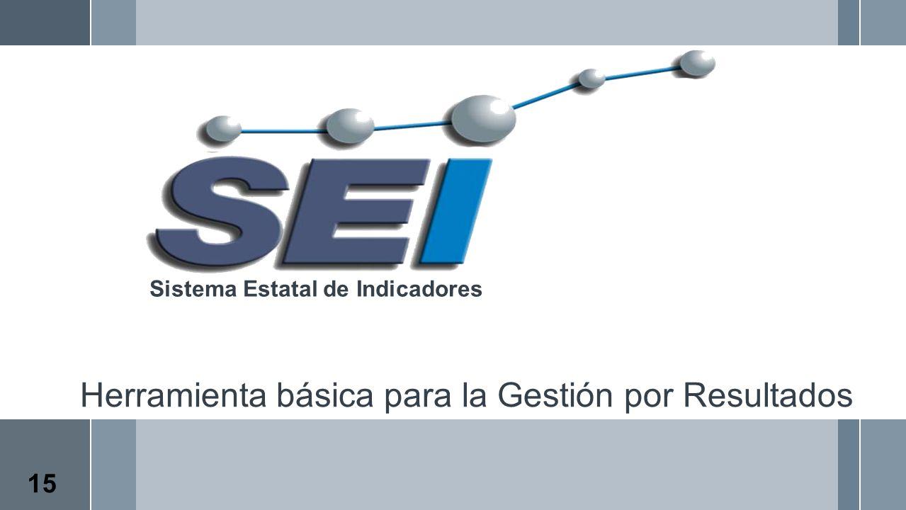 Herramienta básica para la Gestión por Resultados Sistema Estatal de Indicadores 15