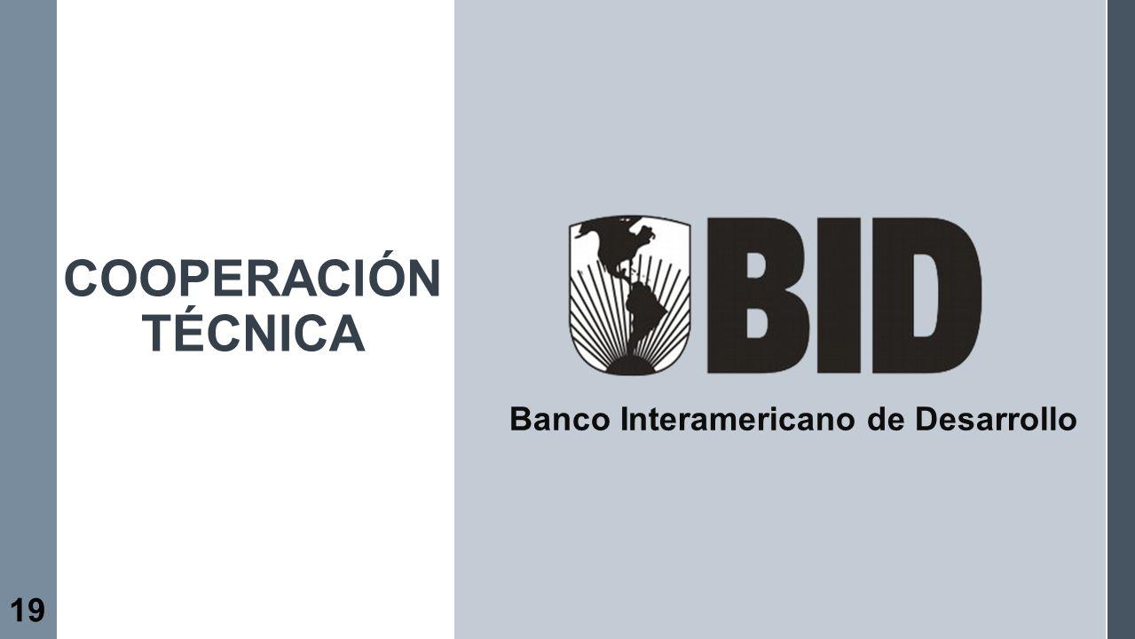 19 Banco Interamericano de Desarrollo COOPERACIÓN TÉCNICA