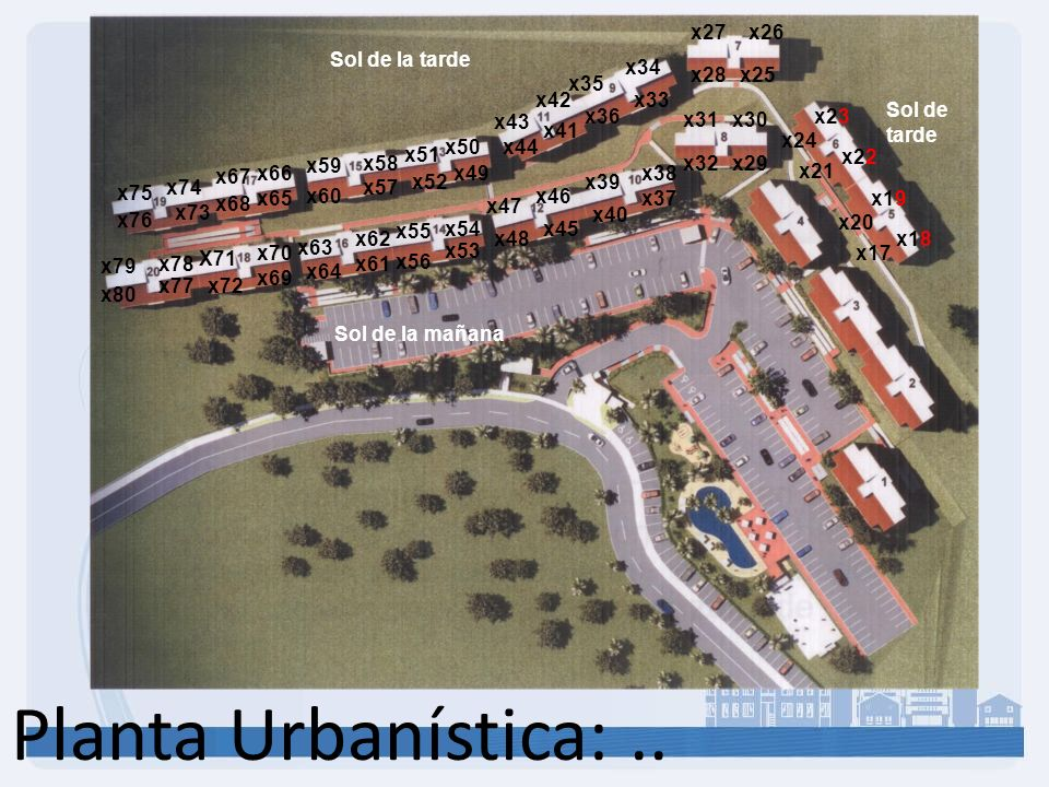 Planta Urbanística:.. x20 x17 x18 x19 x24 x21 x22 x23 x27 x28x25 x26 x31 x32x29 x30 x35 x36 x33 x34 x40 x39 x37 x38 x47 x48 x45 x46 x43 x44 x41 x42 x5