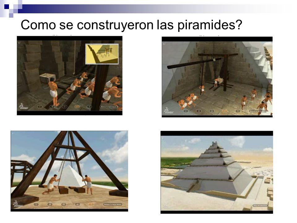 Como se construyeron las piramides?