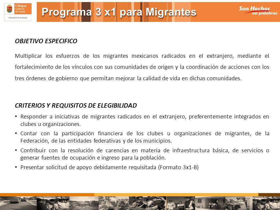 OBJETIVO ESPECIFICO Multiplicar los esfuerzos de los migrantes mexicanos radicados en el extranjero, mediante el fortalecimiento de los vínculos con s
