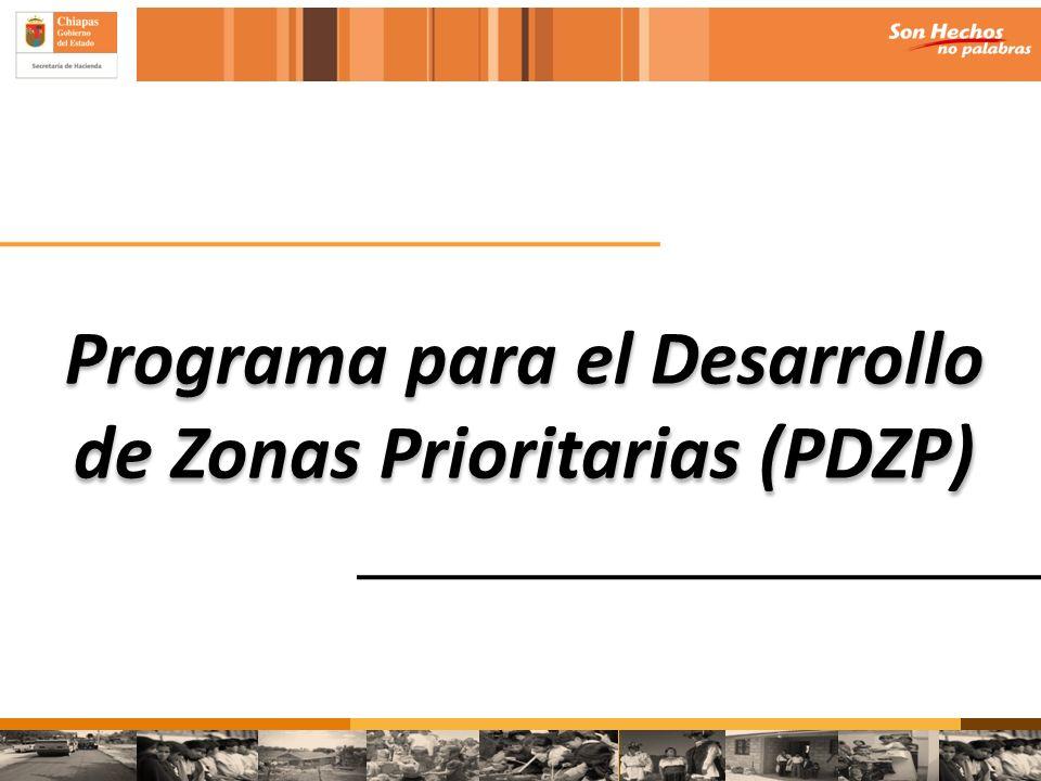 Programa para el Desarrollo de Zonas Prioritarias (PDZP)