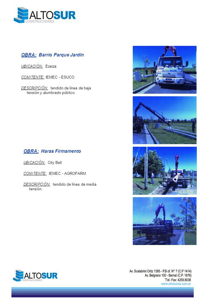 OBRA: Puente la Noria UBICACIÓN: Capilta Federal COMITENTE: Edintar S.A.