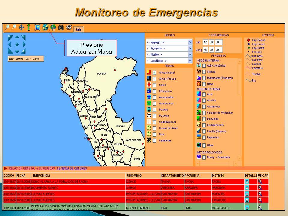 Presiona Actualizar Mapa
