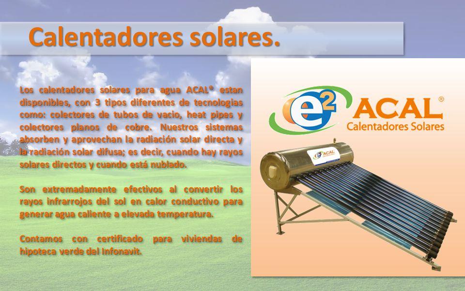 Calentadores solares.
