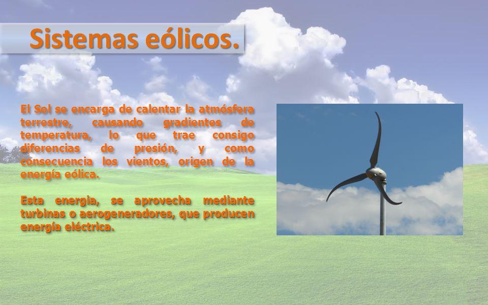 Sistemas eólicos.