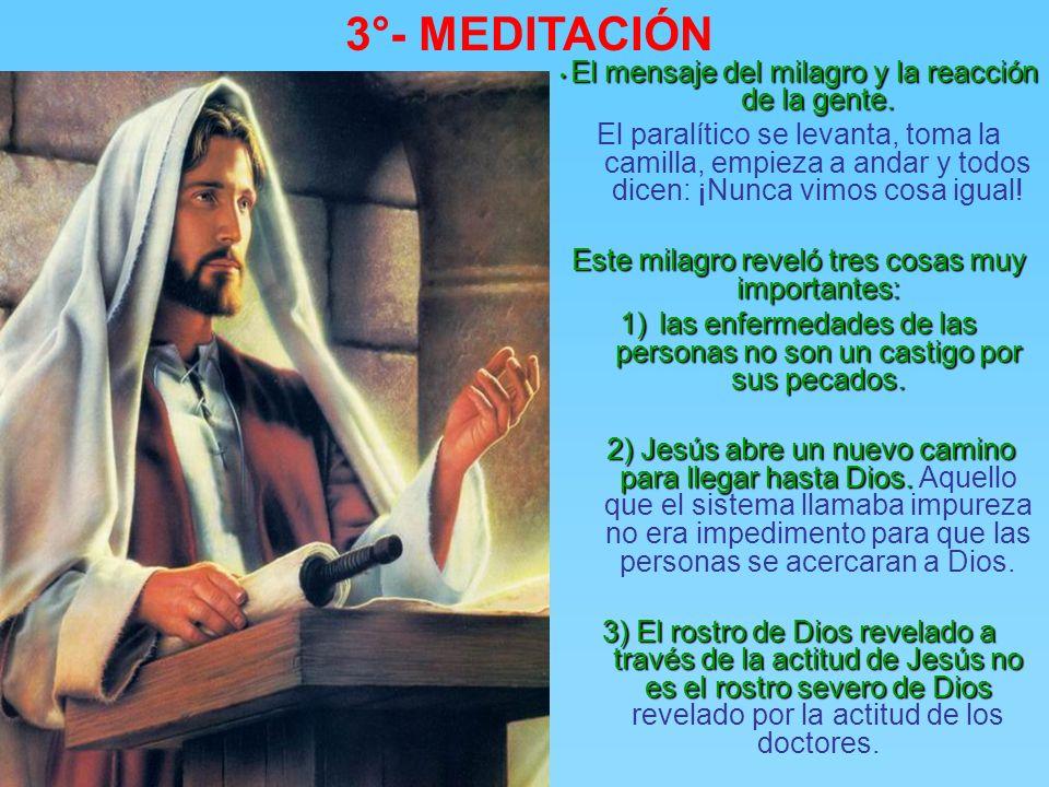 3°- MEDITACIÓN Curando, Jesús demuestra que tiene poder de perdonar los pecados. Curando, Jesús demuestra que tiene poder de perdonar los pecados., pa