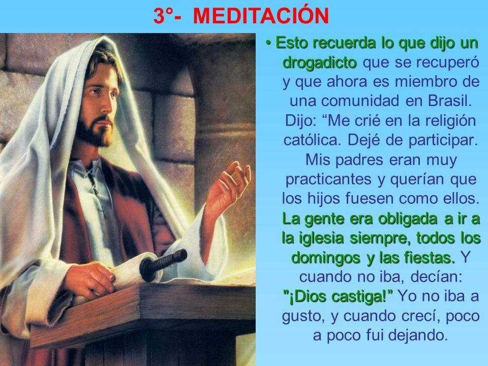 3°- MEDITACIÓN El mensaje del milagro y la reacción de la gente. El mensaje del milagro y la reacción de la gente. El paralítico se levanta, toma la c