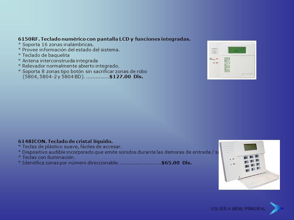 VOLVER A MENU PRINCIPAL 6150RF.Teclado numérico con pantalla LCD y funciones integradas.